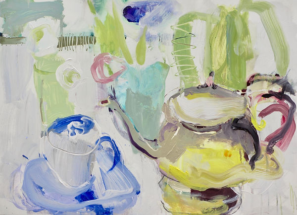 Teapot Oil on board   58cm x 80cm  £1200