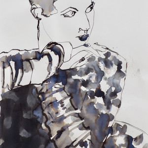 Lara Ink on Paper  42 x 60 cm