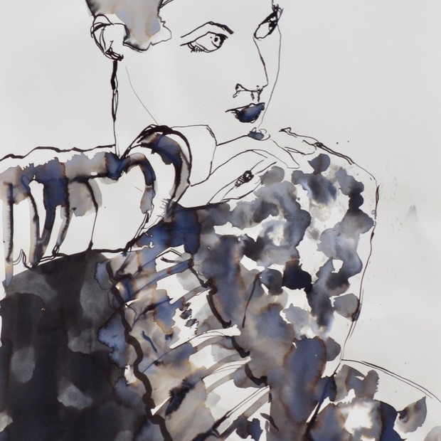 Lara Ink on Paper  42 x 60 cm