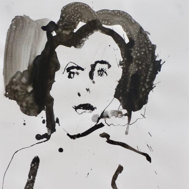 Helga     Ink on paper      42 x 60 cm