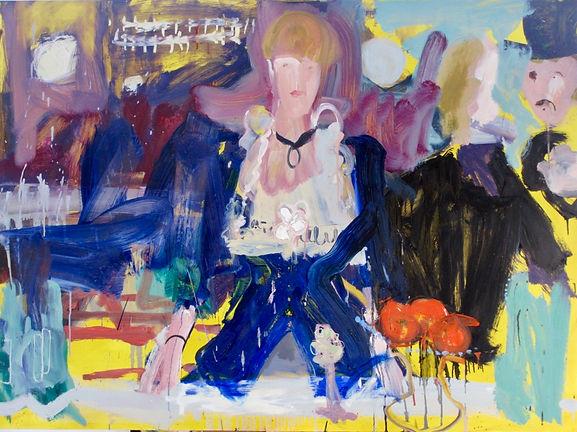 bar at folies bergres painting abstract