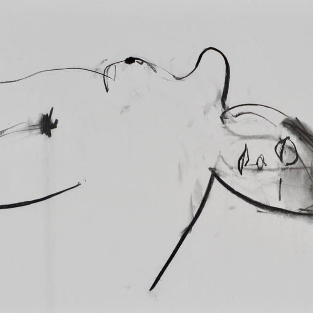 Nighttime Monique II Charcoal  42 x 60 cm