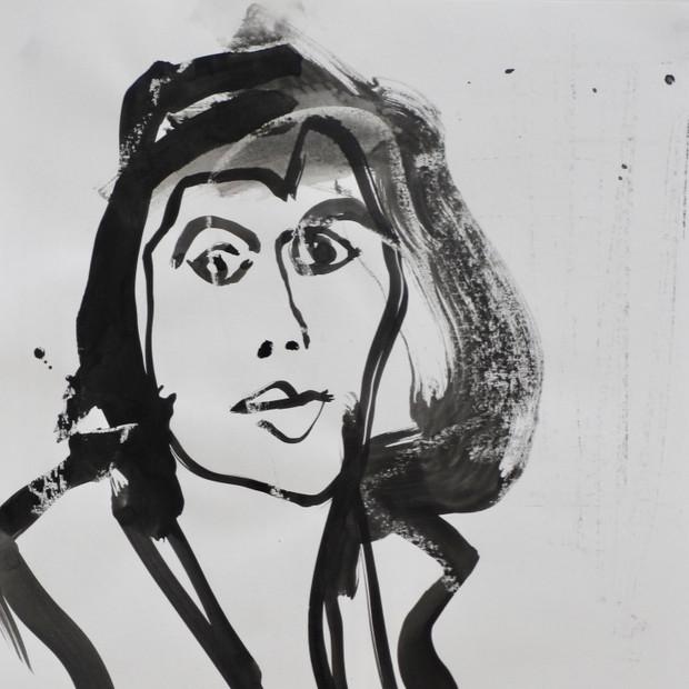 Abigail II Ink on Paper 42 x 60 cm