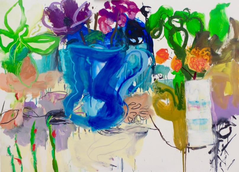 Blue Jug II Oil on Board 120 x 92 cm