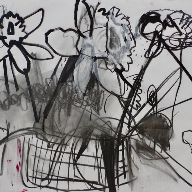 Floribunda Drawing II   Mixed Media   60 x 84 cm