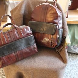 THE BRIDGE brown/black Laptop and backbag