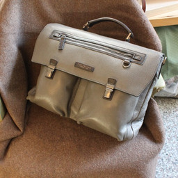 THE BRIDGE grey business bag