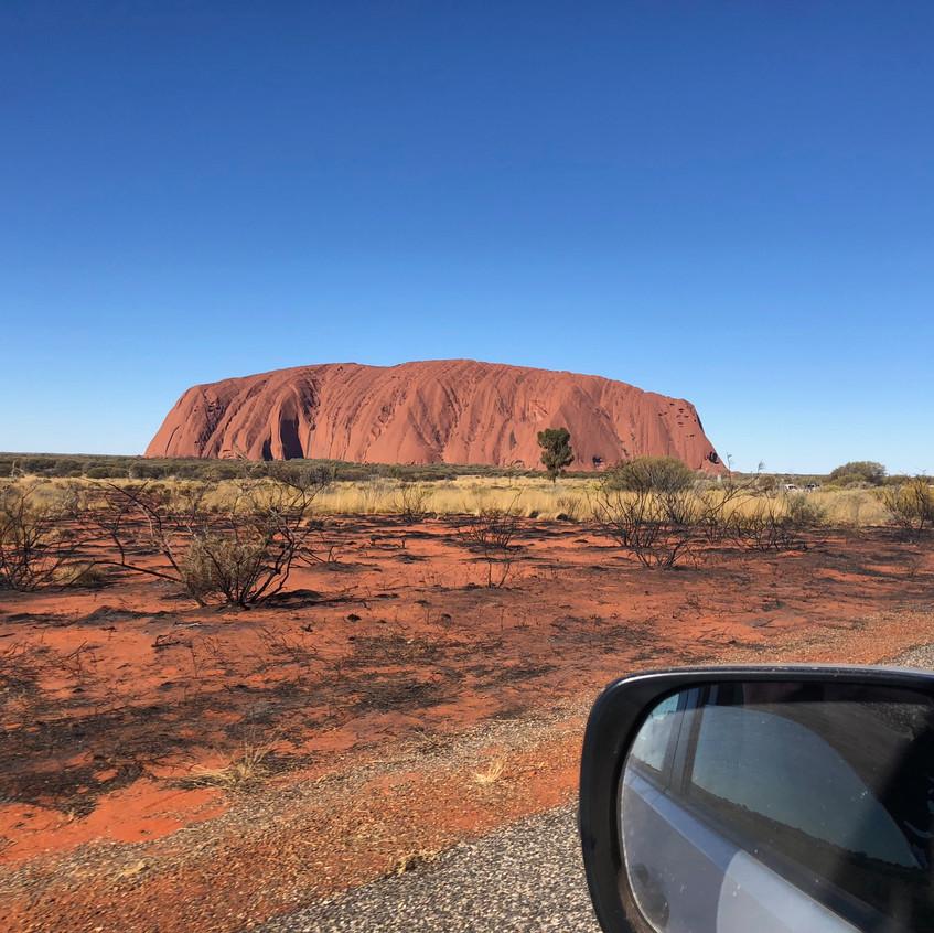 First sighting of Uluru