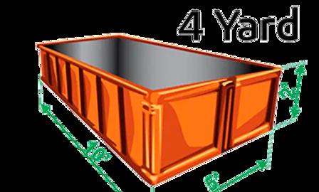 4 yard bin rental