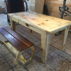 College grad 1st dining table + bench
