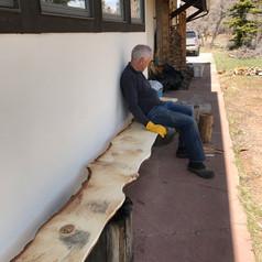 Live edge bench