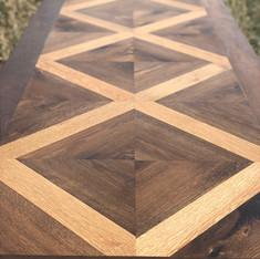 White oak + fumed oak table top