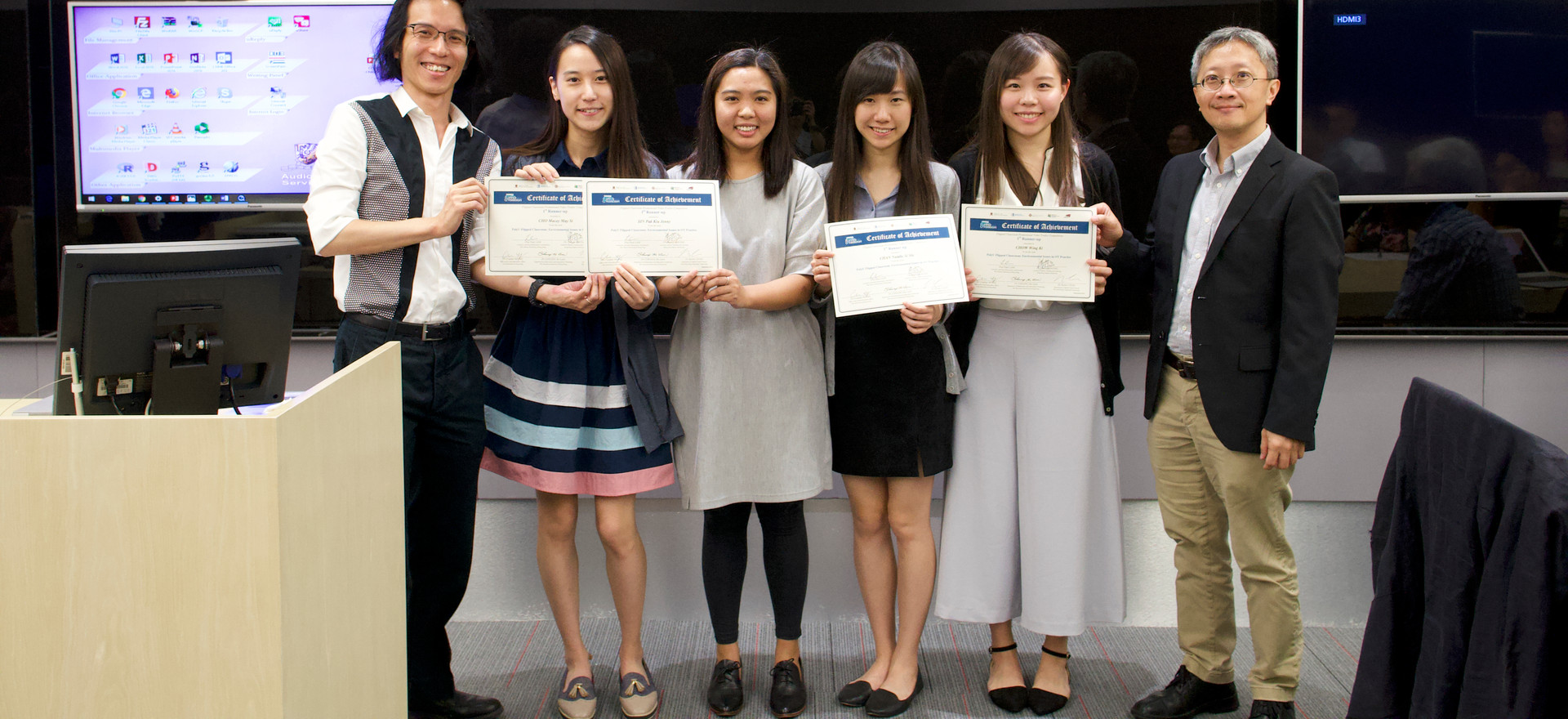 "1st Runner-up Team: ""PolyU Flipped Classroom: Environmental Issues in OT Practice"" @PolyU"