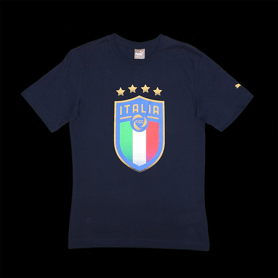 752613 10 FIGC Italia Badge Tee