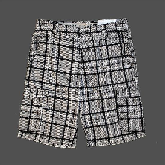 828292 01 Mens Checked Cargo Shorts
