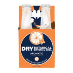 Front Facing - 4 pack packing mockup for Aromatic DRY Botanical Bitters & Soda