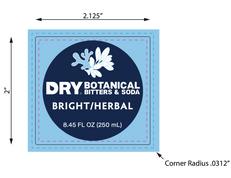Bright & Herbal - Bottle Label