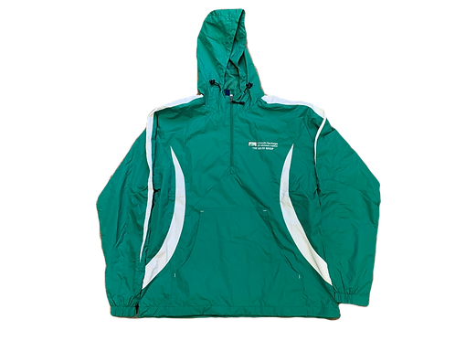 Green & White Hooded TMG Pullover