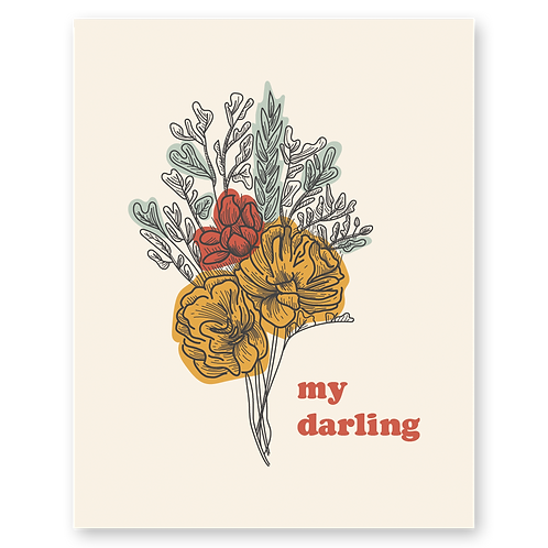 My Darling Floral Bouquet 11 x 14 Print