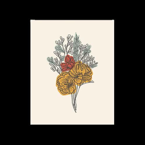 Floral Bouquet 8 x 10 Print
