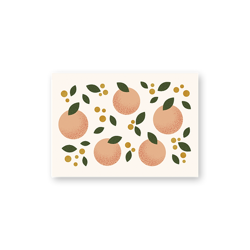 Peaches Postcard