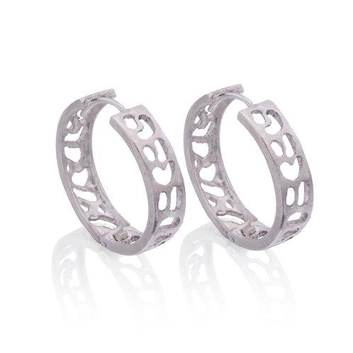 Silver Leopard Earrings