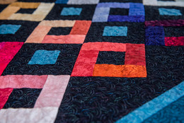 My very first attempt at Free-Motion-Quilting on a finished piece ...