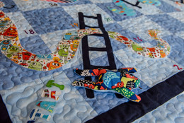 Snakes and Ladders Childrens Quilt