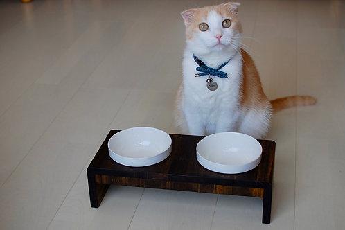 【期間限定色エボニー】膳ZEN*ペット用食器台