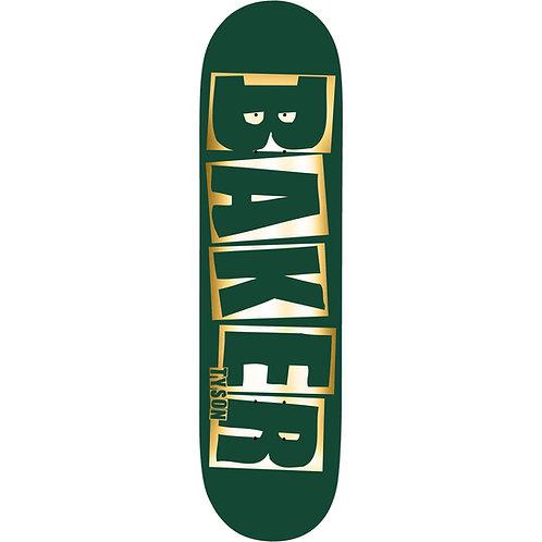 """BAKER Logo Name deck (Green foil) 8.0"""""""