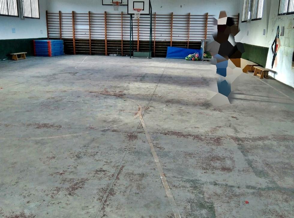 Pintado y marcación de pista deportiva