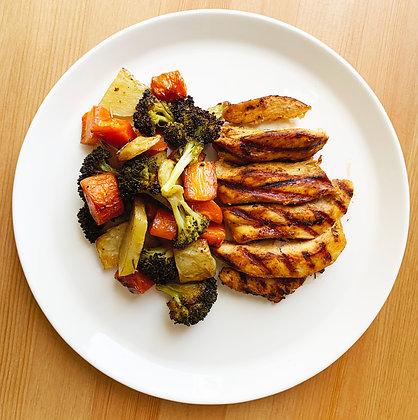 Pechuga al grill con Vegetales