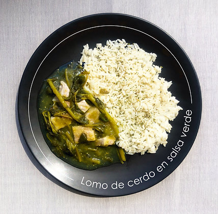 Lomo de cerdo en salsa verde