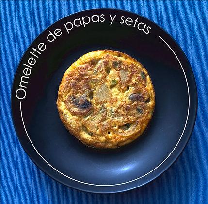 Omelette de papas y setas
