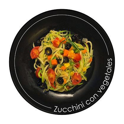 Noodles de Zucchini con vegetales