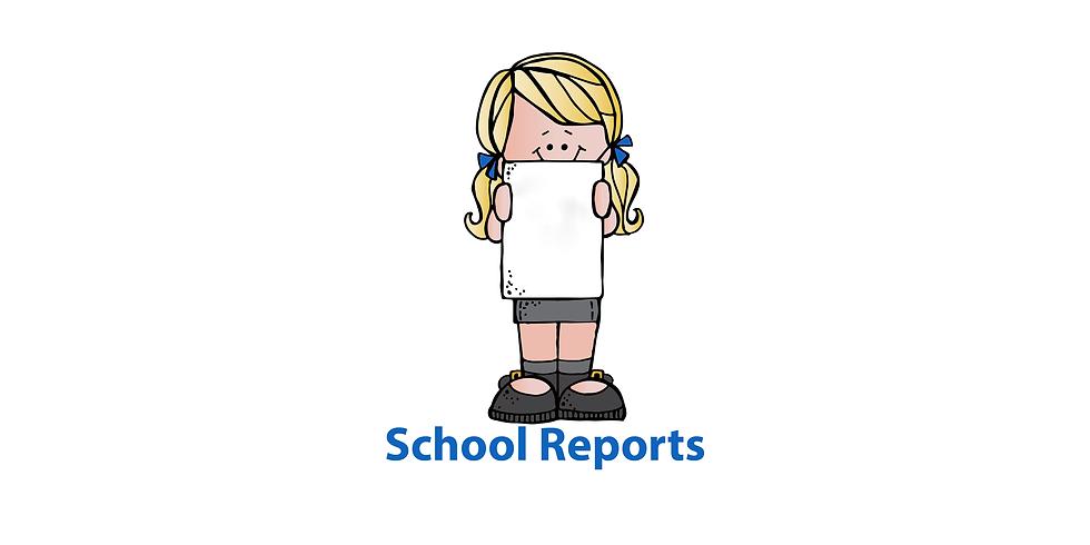 School Reports Sent Home
