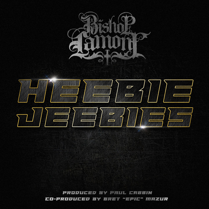 "Single cover art design for recording artist Bishop Lamont: ""Heebie Jeebies"""