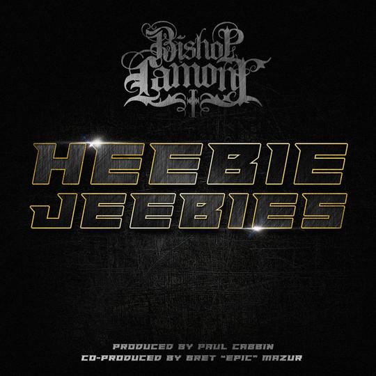 "Single cover art design for recording artist Bishop Lamont: ""Heebie Jeebies"""