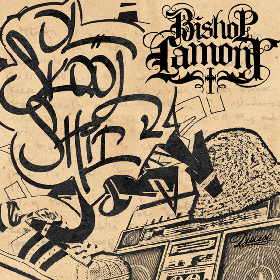 "Single cover art design for recording artist Bishop Lamont: ""Ol Skool Shit"""