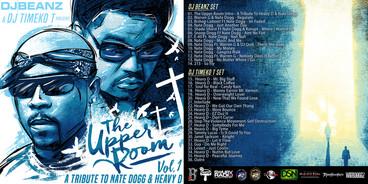 "Cover art design for Dj Beanz & Dj Timeko mixtape, ""The Upper Room."""