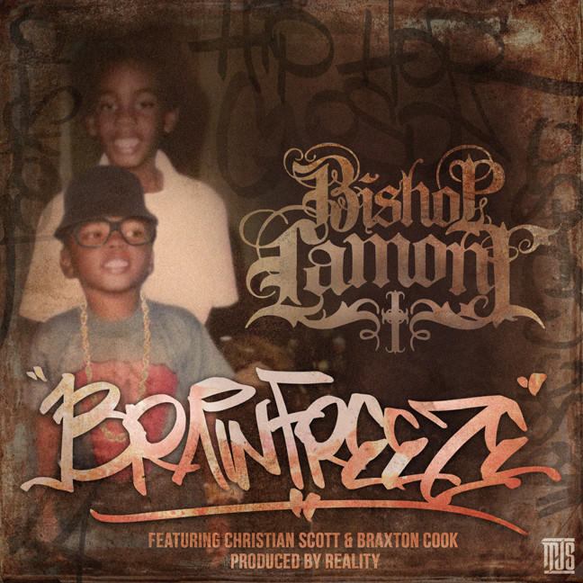 "Single cover art design for recording artist Bishop Lamont ft. Christian Scott and Braxton Cook: ""Brain Freeze"""