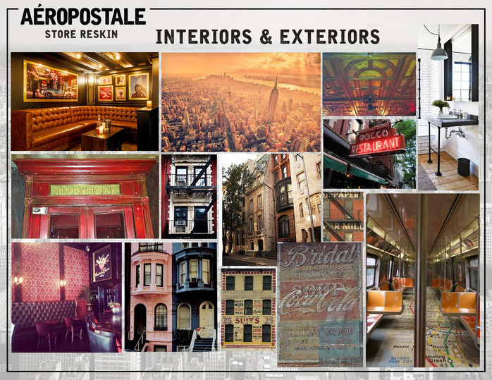 Merchandised visual inspiration board for various retailer interior & exterior revamp