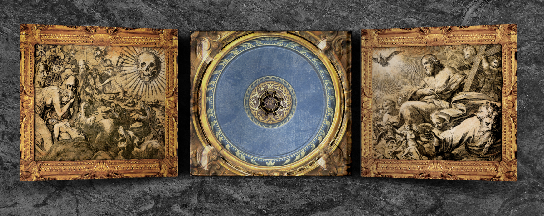 """Art Direction: CD digipak package design for recording artist Bishop Lamont's 2016 album release, """"The Reformation: G.D.N.I.A.F.T"""" (inside view w/ cd tray)"""