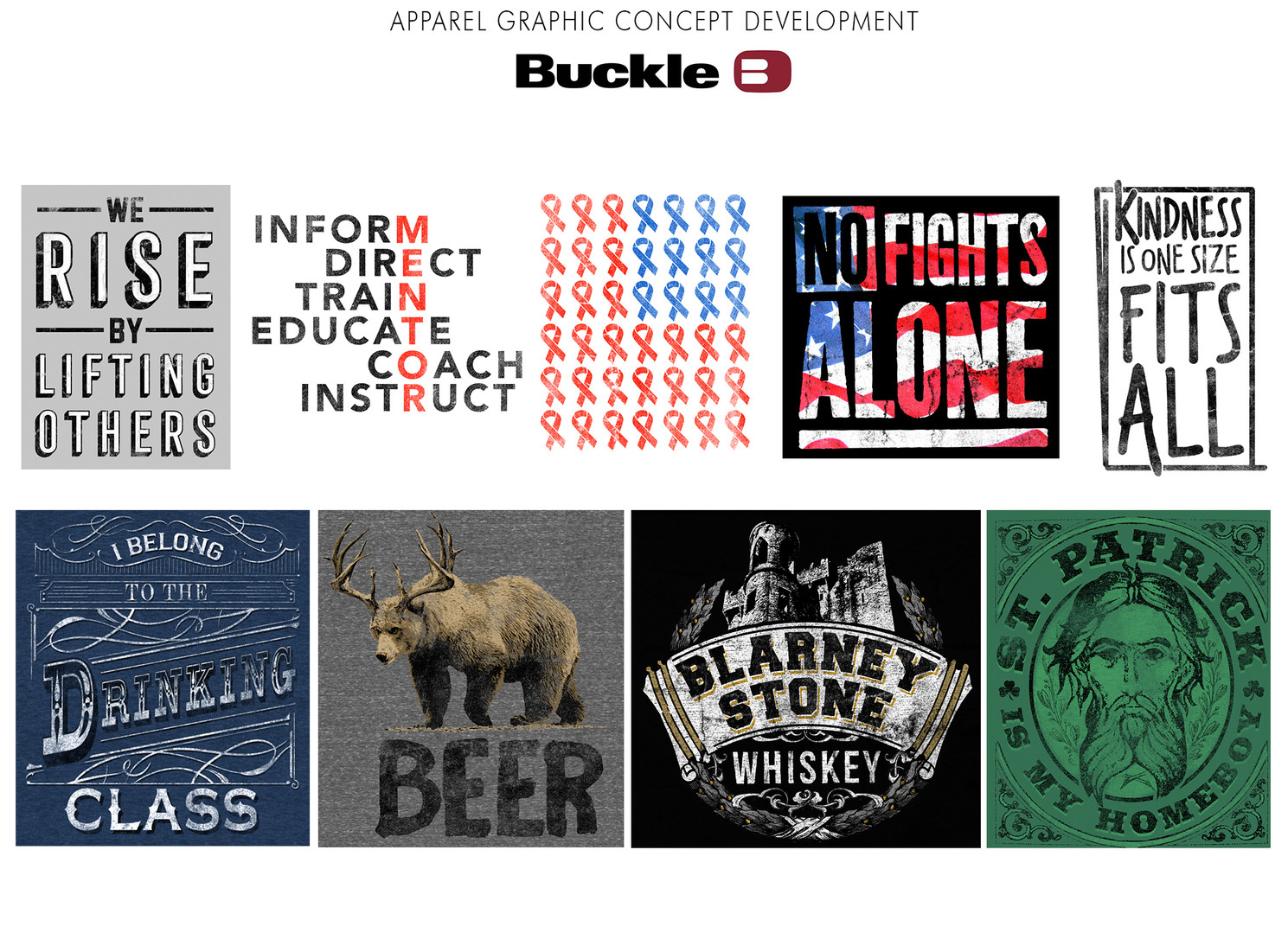 Apparel graphic concept development for Buckle.
