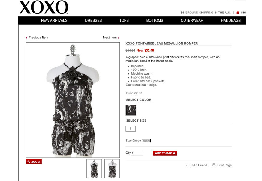 Women's all-over print graphic development for XOXO
