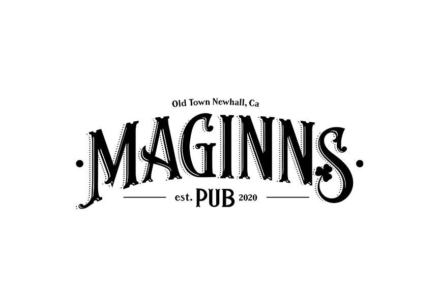 Logo design for Maginns Pub, opening 2020.
