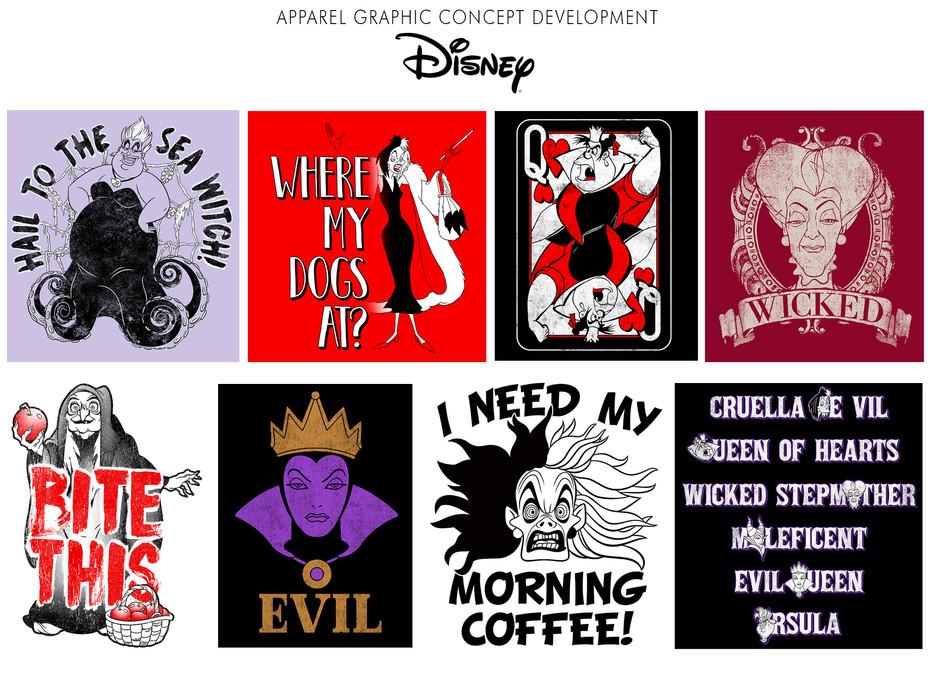 Apparel graphic concept development for Disney Parks & Resort.