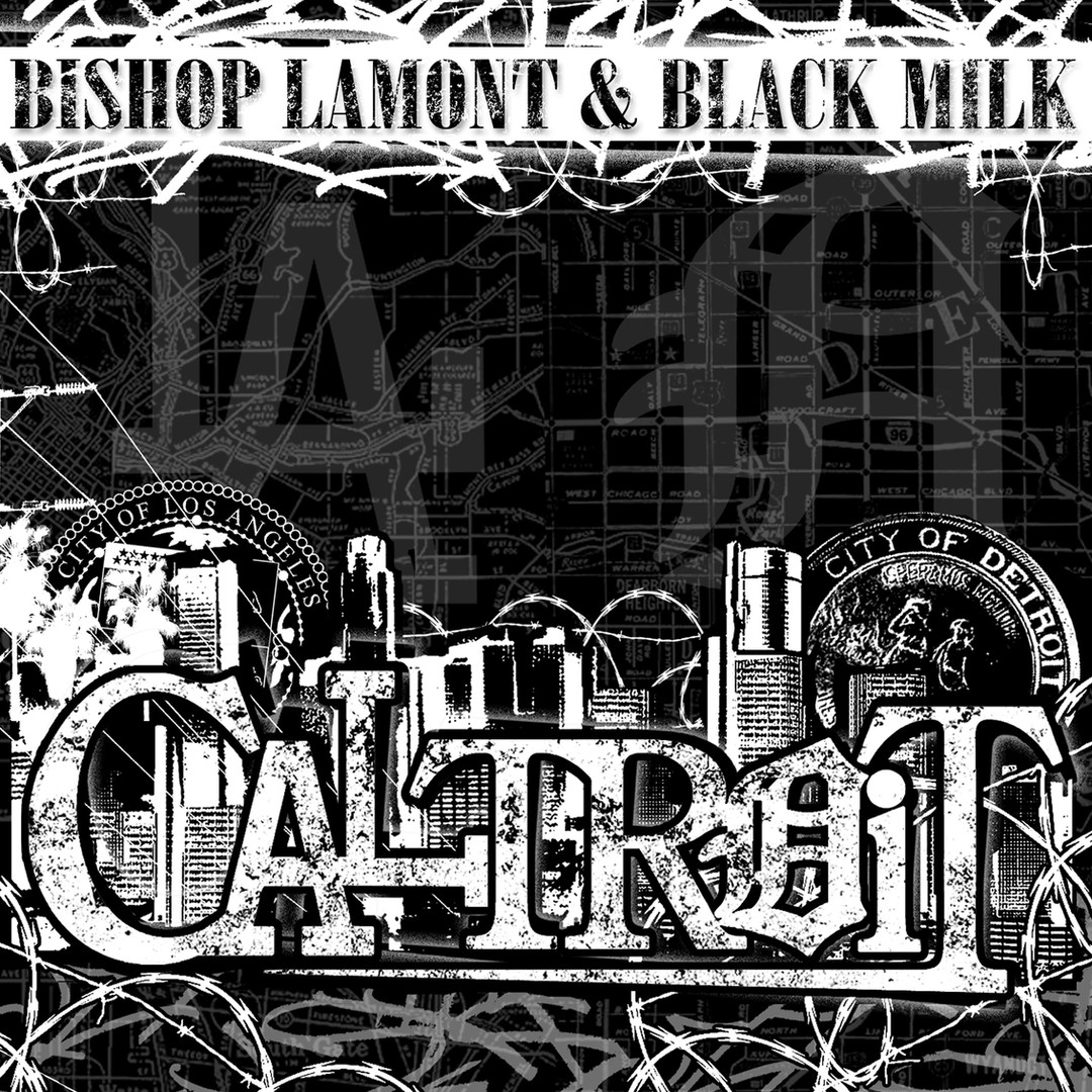 "Cover art for recording artist Bishop Lamont's street album, ""Caltroit"""