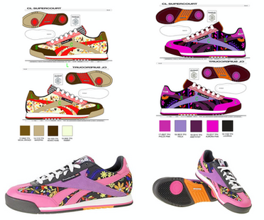 Graphic development & technical design for Rolland Berry: Reebok