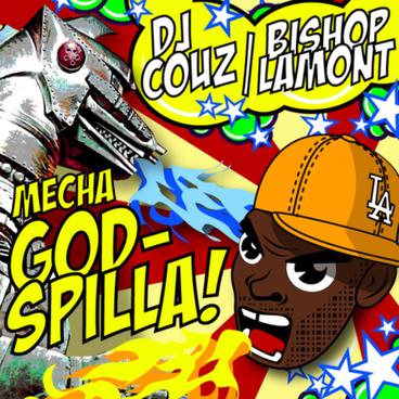Mixtape cover art design for recording artist Bishop Lamont hosted by Dj Couz